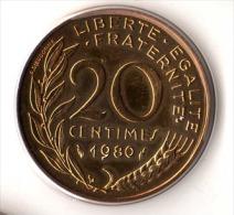 ** 20 CENT MARIANNE 1980 FDC Sous/vide   ** - E. 20 Centimes