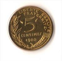 ** 5 CENT Marianne 1980 FDC Sous : Vide D Origine  ** - France