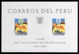 1960 - Peru - Año Mundial Del Refugiado - HB 3 - VC 18 € - MNH - Peru