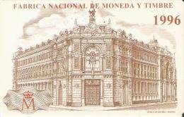 CALENDARIO DEL AÑO 1996 DEL BANCO DE ESPAÑA EN MADRID  FABRICA MONEDA Y TIMBRE  (CALENDRIER-CALENDAR) - Calendarios