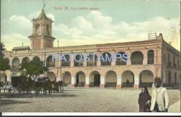 3742 ARGENTINA SALTA CABILDO ANTIGUO & CART A HORSE POSTAL POSTCARD - Argentinien