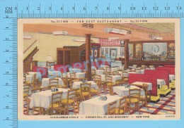 CPSM, New York ( Far East Restaurant, Corner 59th St. And Broadway ) Linen Postcard Recto/Verso - Broadway