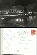 Civitavecchia - Il Porto, Notturno - Viaggiata Nel 1956 - Nave - Barche