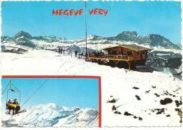 CPSM FRANCE 74 HAUTE-SAVOIE MEGEVE - Les Champs De Ski De Very - Le Télésiège Et Le Mont-Blanc - 1967 - Megève