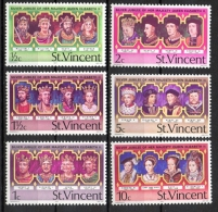 St. Vincent 1977 - Re E Regine D'Inghilterra Kings And Queens Of England MNH ** - St.Vincent (...-1979)