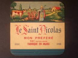 49007 - Etiquette De Fromage Ancienne - LE SAINT NICOLAS - Pavy à Villebernier - Maine Et Loire 49Q - Vieux Papiers