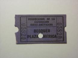 B5177 Billete De Ferrocarril En La Exposición Iberoamericana De Sevilla 1929 / Railway Ticket Exhibition In Seville 1929 - Tickets - Entradas