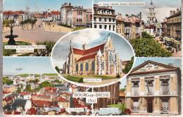 Bourg-en-Bresse (01) Parmi Les Nombreux Aspects De La Ville - Carte Colorisée, Dentelée - Bourg-en-Bresse