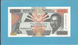 TANZANIA -200 SHILINGI - ND ( 1993 ) - UNC. - P 25.b - Sign. 11 - Serie NV - President Mwinyi/2 Fisherman - BENKI KUU YA - Tanzanie