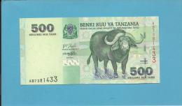 500 SHILINGI - ND ( 2003 ) - UNC. - P 35 - Sign. 14 - Serie AB - Cape Buffalo / Hospital - BENKI KUU YA TANZANIA - Tanzanie