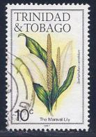 Trinidad & Tobago, Scott # 393h Used Flower,1987 - Trinidad & Tobago (1962-...)