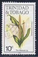 Trinidad & Tobago, Scott # 393i Used Flower,1988 - Trinidad & Tobago (1962-...)