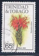 Trinidad & Tobago, Scott # 399 Used Black Stick Flower,1983 - Trinidad & Tobago (1962-...)