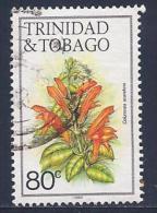 Trinidad & Tobago, Scott # 400i Used Columnea Scandens Flower,1988 - Trinidad & Tobago (1962-...)