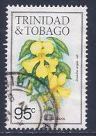 Trinidad & Tobago, Scott # 401f Used Cats Claws Flower,1985 - Trinidad & Tobago (1962-...)