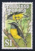 Trinidad & Tobago, Scott # 513 Used Bananaquit, 1990 - Trinidad & Tobago (1962-...)