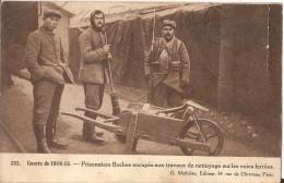 Prisonniers Boches-nettoyage Des Voies Ferrées Franchises Militaire-tresor  712 - Guerre 1914-18