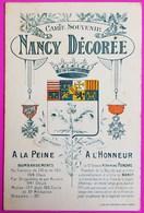 Cpa Nancy Décorée Guerre De 1914 Carte Postale 54 Lorraine Croix De Guerre Et Légion D' Honneur Médaille Militaire - Weltkrieg 1914-18
