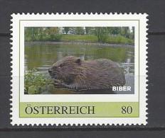 ÖSTERREICH Biber Postfrisch - Private Stamps