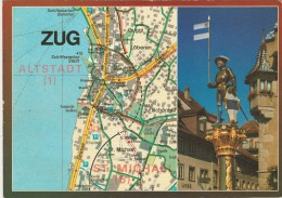 AK MAP, Citymap, Stadtplan **ZUG** Schweiz - Cartes Géographiques