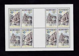Bloc 2000  De 4X2 Timbres  YT 312/313 Neuf  Dunajca Vahu /  Sheet 2000 Mint Mi 359/360 - Blocks & Sheetlets