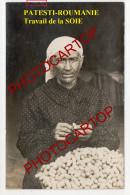 PATESTI-La SOIE-Decoconnage-Filature-Industrie Textile-2x Cartes Photos Allemandes-Guerre 14-18-1 WK.-Rumänien-Roumanie- - Roumanie