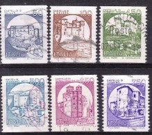 1988 - Castelli In Bobina - Serie Completa Usata - 1981-90: Used