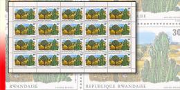 Rwanda 0683**  30c  Protection De La Nature -  Feuille / Sheet De 20 MNH - Rwanda