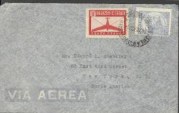 1942 SMALL AIRMAIL ENVELOPE PABLO ADLER BUENOS AIRES TO MR STECKLER NEWYORK - Argentina