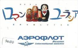 Télécarte Japon * RUSSIAN AIRLINES (2000) Japan Phonecard Airplane * Flugzeug Avion * AVION * AIRLINES * - Flugzeuge