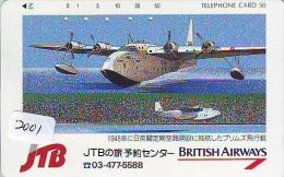 JTB * Télécarte Japon * BRITISH AIRWAYS (2001) Japan Phonecard Airplane * Flugzeug Avion * AVION * AIRLINES * - Flugzeuge