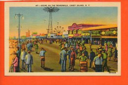 Scene On The Boardwalk, CONEY Island, N.Y. (fête Forraine) - NY - New York