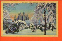 """MORMON"" Temple Grounds In Winter, Salt Lake City, UTAH - Salt Lake City"