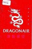 Télécarte Japon * DRAGON AIR (2006) Japan Phonecard Airplane * Flugzeug Avion * AVION * AIRLINES * - Avions
