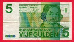 PAYS-BAS - NEDERLAND - 5 GULDEN DU 28.03.1973 - [2] 1815-… : Royaume Des Pays-Bas