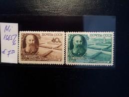 USSR/Russia 1949 Dokutschajew  MNH MI:1365 -1366 - Ongebruikt