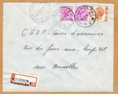 Enveloppe Cover Brief Elstörm Aangetekend Registered Recommandé Mouscron Moeskroen - Belgique