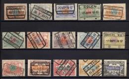Eisenbahn - Paketmarken Kpl. Satz Von 1902 Gestempelt, Zifferzeichnung: Mi.N° 28/42 - Bahnwesen