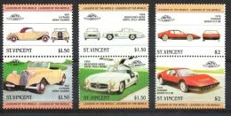 St. Vincent 1983 - Citroen Mercedes Ferrari Auto Car MNH ** - St.Vincent (1979-...)