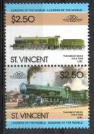 St. Vincent 1985 - Locomotive Ferroviarie Railway Locomotives Treni Trains MNH ** - St.Vincent (1979-...)