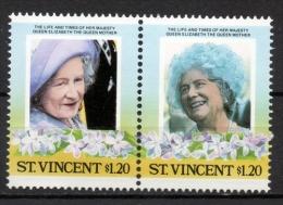 St. Vincent 1985 - Regina Madre Elisabetta Queen Mother Elizabeth MNH ** - St.Vincent (1979-...)