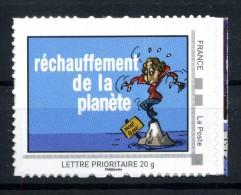 """Réchauffement De La Planéte .  Adhésif Neuf ** . Collector  """"  SAUVONS LES OCEANS  """" - France"""