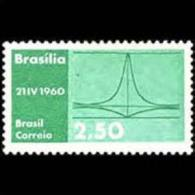 BRAZIL 1960 - Scott# 907 New Capital Set Of 1 MNH (XJ234) - Unused Stamps