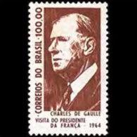 BRAZIL 1964 - Scott# 986 Pres.de Gaulle Set Of 1 MNH (XK774) - Unused Stamps