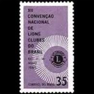 BRAZIL 1965 - Scott# 1000 Lions Clubs Set Of 1 MNH (XL420) - Unused Stamps