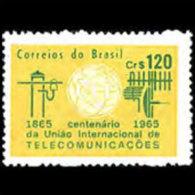 BRAZIL 1965 - Scott# 1001 ITU Cent. Set Of 1 LH (XL474) - Unused Stamps
