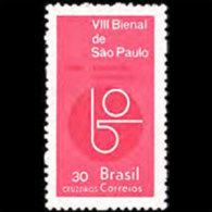 BRAZIL 1965 - Scott# 1009 Art Exhib. Set Of 1 LH (XL941) - Unused Stamps