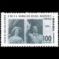 BRAZIL 1965 - Scott# 1014 Belgian King Set Of 1 LH (XM239) - Unused Stamps