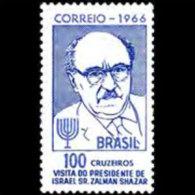 BRAZIL 1966 - Scott# 1021 Israel Pres. Set Of 1 MNH (XM452) - Unused Stamps