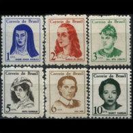 BRAZIL 1967 - Scott# 1036-41 Famous Women Set Of 6 MNH (XN018) - Unused Stamps